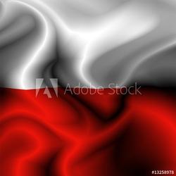 Plakat na papierze fotorealistycznym polsko-polska flaga-drapeau pologne
