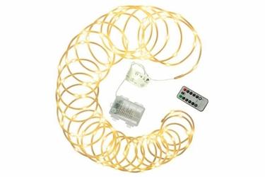 Kabel węże świąteczne mini 100 led  ciepły biały 10 m na baterie