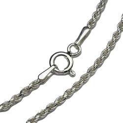Greco łańcuszek srebrny długi oksydowany corda 45-80 cm