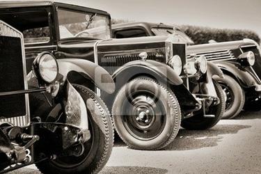 Fototapeta voitures de zbiór du debiut du 20eme siecle sepia