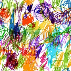 Fototapeta szwu z dziecinnych doodle do projektowania
