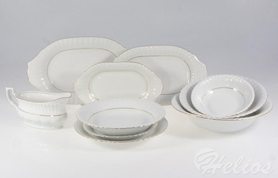 Serwis obiadowy bez wazy dla 12 os.  43 części - b014 iwona
