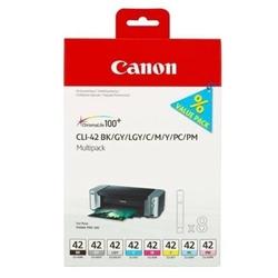 Tusze Oryginalne Canon CLI-42 MULTI PACK 6384B010 komplet - DARMOWA DOSTAWA w 24h