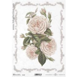 Papier ryżowy ITD A4 R1119 róże bukiet