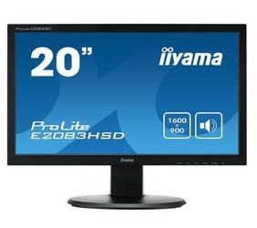 IIYAMA Monitor 19.5 E2083HSD-B1 DVI-DDSUBGŁOŚNIKI