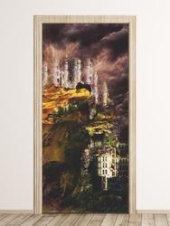 Fototapeta na drzwi abstrakcyjny zamek fp 6241