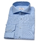 Elegancka błękitna koszula van thorn w delikatny biały wzór 43