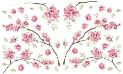 Statyczne naklejki na okno gałązki i kwiatuszki