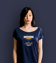 Ratownik morski t-shirt damski granatowy s