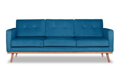 Sofa fern z funkcją spania welurowa 3-osobowa  deluxe - welur łatwozmywalny petrol