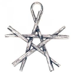 Pentagram z różdżek, seria: pentagramy - naszyjnik