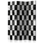 Parawan 3-częściowy - szachownica room dividers