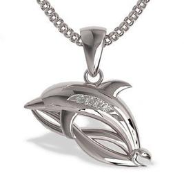 Wisiorek z białego złota w kształcie delfina lpw-28b - wysyłka w następny dzień roboczy - sprawdź dostępność