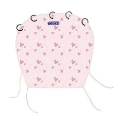 Osłonka dooky design do wózka i fotelika - pink heart