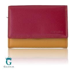 Damski kolorowy portfel valentini w tonacji czerwieni 123-531