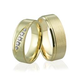Obrączki ślubne z brylantami - au-928