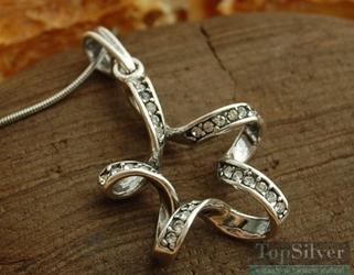 Spirala - srebrny wisior z cyrkoniami
