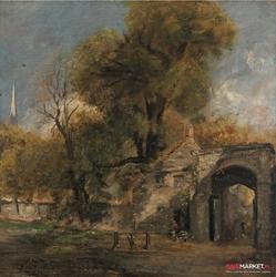 harnham gate - john constable ; obraz - reprodukcja