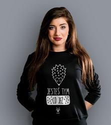 Wyprzedaż - jesteś tym co jeżyk damska s bluza prosta damska czarna s