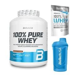 Zestaw biotechusa 100 pure whey 2270 g + 454 g + shaker 600 ml