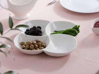 Półmisek na przekąski i sałatki 4-dzielny porcelana altom design regular 26,5 cm