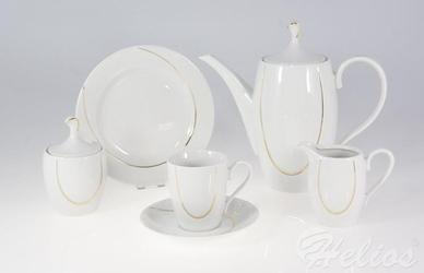 Garnitur do kawy na 12 os. 39 części - g054 vega linia złota