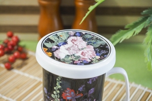 Duo malwa porcelanowy kubek z zaparzaczem 320 ml