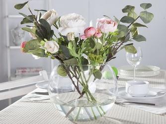 Wazon kula szklany na kwiaty edwanex średnica 20 cm
