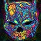 Psychoskulls, batman, dc comics - plakat wymiar do wyboru: 60x80 cm