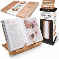 Drewniana podstawka pod książki
