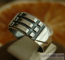 Pierścień atlantów magiczna srebrna obraczka sygne