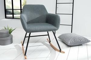 Fotel bujany michelle nowoczesny ciemnoszary
