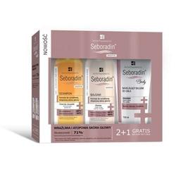 Seboradin sensitive szampon 200ml + balsam do włosów 200ml + balsam do ciała 150ml gratis
