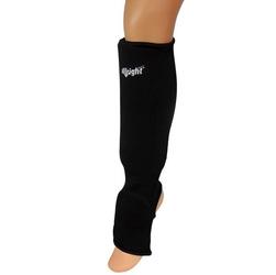 Nagolennik allright z osłoną stopy elastyczny, bawełna czarny