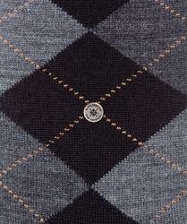 Stylowe skarpety burlington edinburgh czarno-szare we wzór argyle rozmiar 40-46