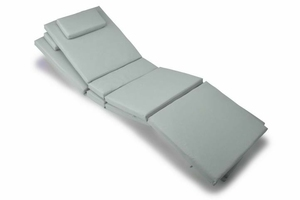 Zestaw 2 poduszki na leżaki 188 cm szare, 4 segmenty