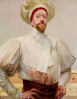 Reprodukcja autoportret w bialym, jacek  malczewski