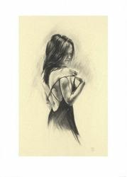 Dziewczyna w sukni - reprodukcja