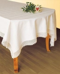 Obrus teflonowany greno biały prostokąt 150 x 350