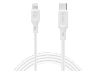 Kabel spigen c10cl mfi usb-c type c do lightning 1m white