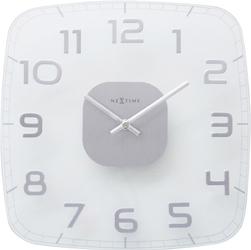 Zegar ścienny Classy Square Nextime 30 x 30 cm, transparentny 8816 TR