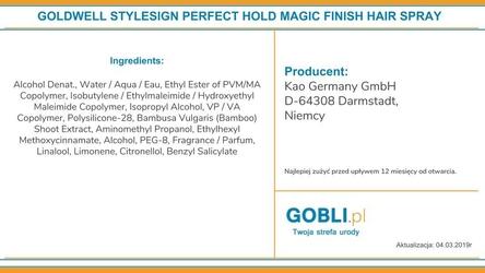 goldwell non aerosol magic finish spray do stylizacji, nabłyszcza, odżywia i nawilża 200ml
