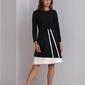 Czarna modna sukienka do pracy catrise