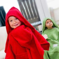 Dziecięcy Kocyk Podróżny z Rękawami - Czerwony
