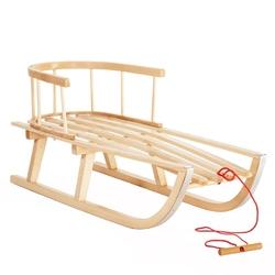 Sanki drewniane z oparciem st