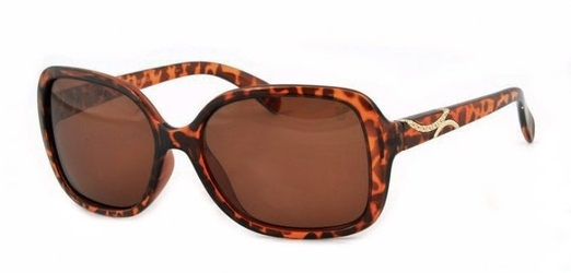 Okulary damskie w panterkę velo v-135a muchy polaryzacyjne