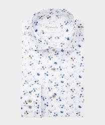 Klasyczna biała koszula michaelis w kolorowe kwiaty 45