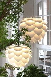 Aluminiowa lampa wisząca aluvia umage perłowa biel 02127