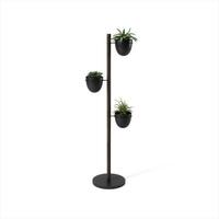 Kwietnik floristand czarnydrewniany - czarny