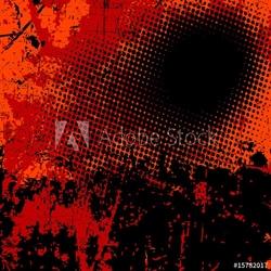 Plakat na papierze fotorealistycznym tło wektor grunge w kolorze czarnym i pomarańczowym